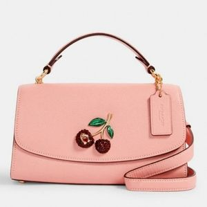 ⚜Coach Tilly Satchel 23 With Cherry